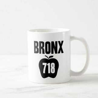 Bronx With Big Apple & 718 Area Code Cutout Mug