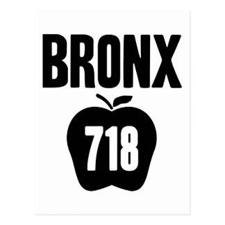 Bronx With Big Apple & 718 Area Code Cutout Postcard