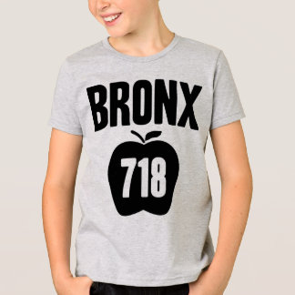 Bronx With Big Apple & 718 Area Code Cutout T-Shirt