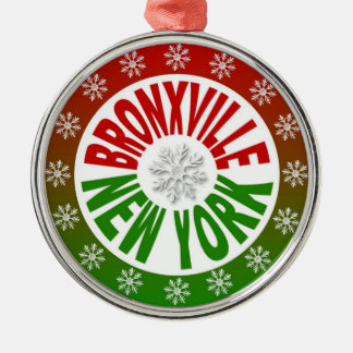 Bronxville New York red green ornament