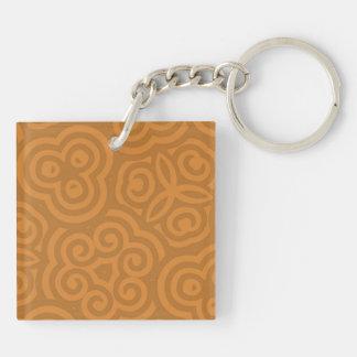 Bronze Abstract Pattern Acrylic Keychain