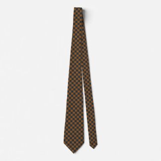 Bronze and Black Checkered Tie