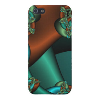 bronze and green fractal iphone case case for iPhone 5