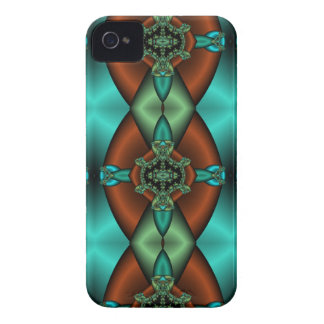 bronze and teal abstract iphone case iPhone 4 cover