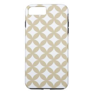 Bronze and White Geocircle Design iPhone 7 Plus Case
