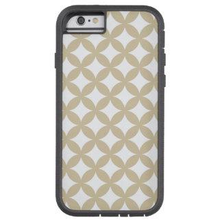 Bronze and White Geocircle Design Tough Xtreme iPhone 6 Case
