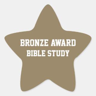 BRONZE Award Bible study Sticker