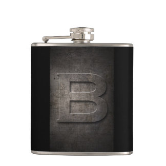 Bronze Black Metal B Monogram Flask