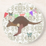 Bronze & Blush Wallaby  Coaster