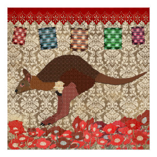 Bronze Blush Wallaby Poster