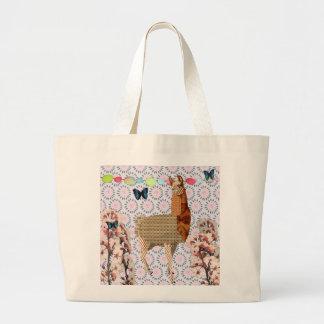 Bronze Boho Llama & Butterflies  Bag
