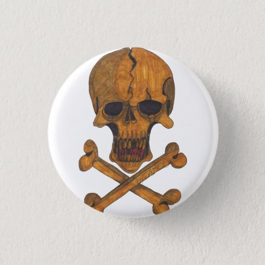 Bronze Bones Button