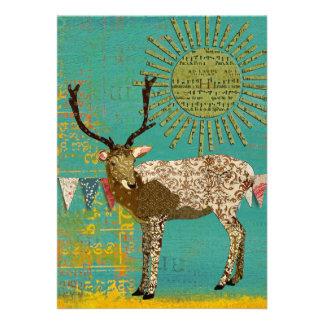 Bronze Buck Baby Shower Teal Sunshine Invitation