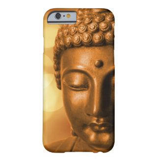 Bronze Buddha Statue with Golden Bokeh Background Barely There iPhone 6 Case