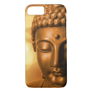 Bronze Buddha Statue with Golden Bokeh Background iPhone 7 Case