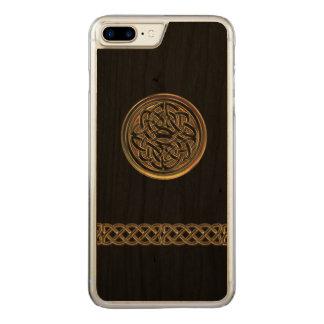 Bronze Celtic Knot Black Wood iPhone 6 Plus Carved iPhone 7 Plus Case