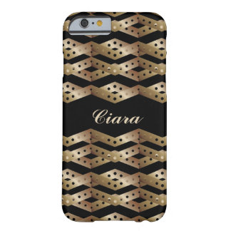 Bronze Chevron Pattern iPhone 6 Case Barely There iPhone 6 Case