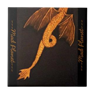 Bronze Dragon Body Small Square Tile