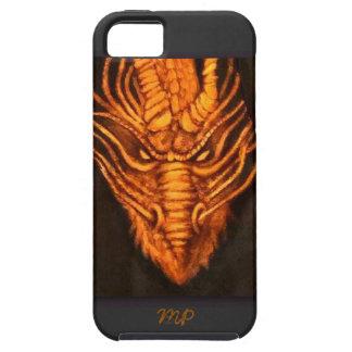 Bronze Dragon Head Tough iPhone 5 Case