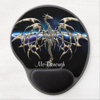 Bronze Dragon on Lightning Sky Gel Mouse Mat