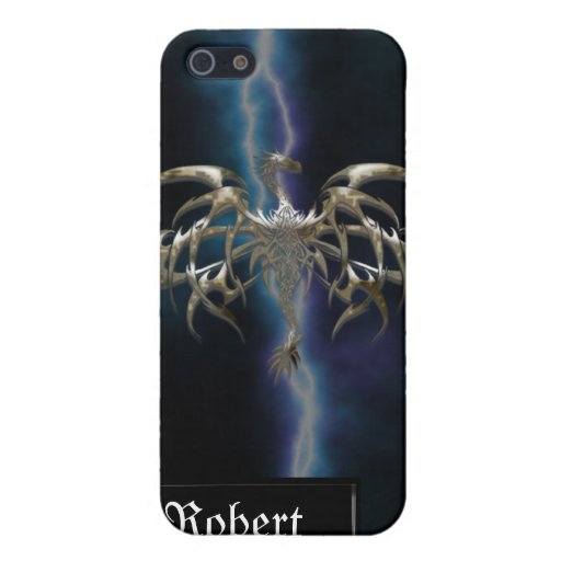 Bronze Dragon on Lightning Sky iPhone4 Cover Cover For iPhone 5