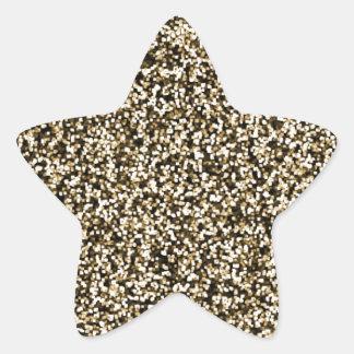 Bronze Faux Glitter Star Sticker