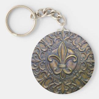 Bronze Fleur D' Lis Key Ring