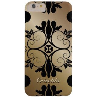 Bronze Floral Pattern iPhone 6 Plus Case