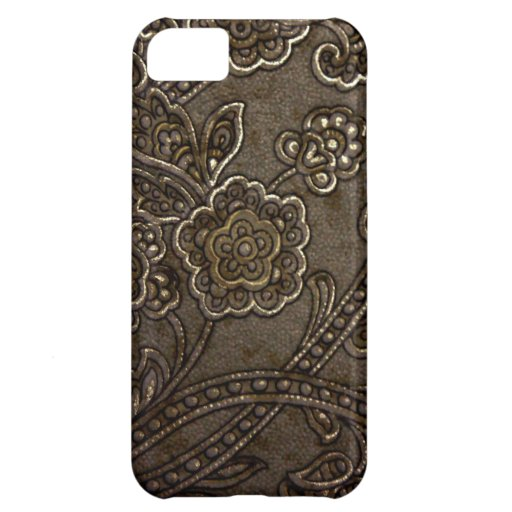 Bronze Floral Relief iPhone 5C Covers