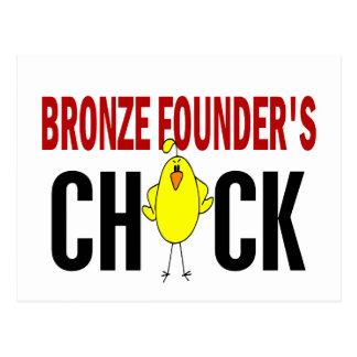 BRONZE FOUNDER'S CHICK POSTCARD