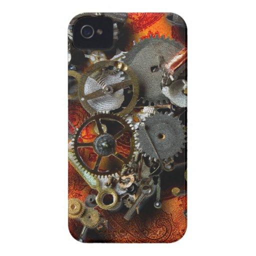 Bronze Gears iPhone 4 Cases