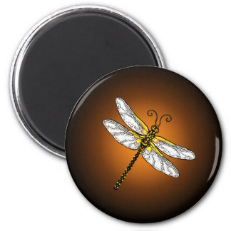 Bronze Gold Dragonfly Dragonflies Magnet
