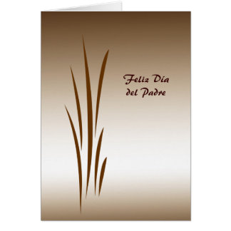 Bronze Grass Dia del Padre Greeting Card