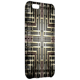 Bronze Grid iPhone 5C Savvy Case iPhone 5C Covers