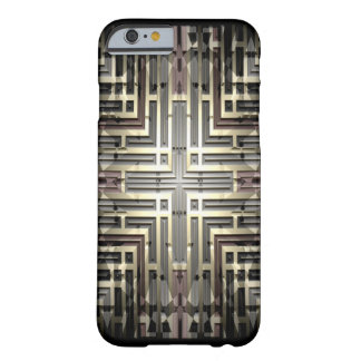 Bronze Grid iPhone 6/6S Barely There Case