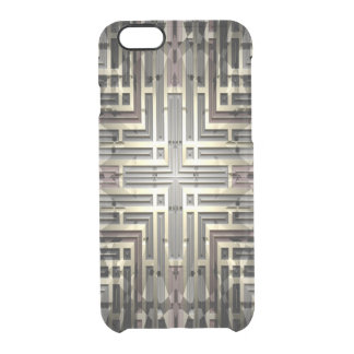 Bronze Grid iPhone 6/6S Clear Case
