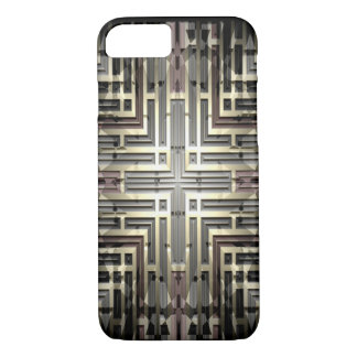 Bronze Grid iPhone 7 Barely There Case