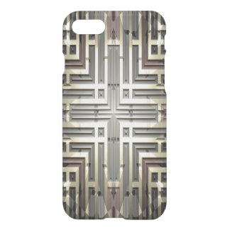 Bronze Grid iPhone 7 Clear Case