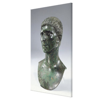 Bronze head of a man, Roman, beginning of 1st cent Canvas Print