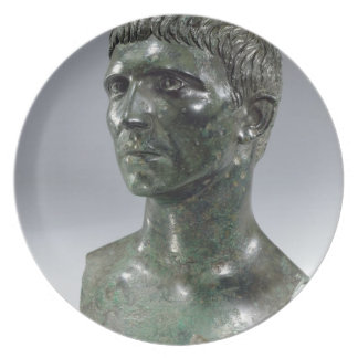 Bronze head of a man, Roman, beginning of 1st cent Party Plates