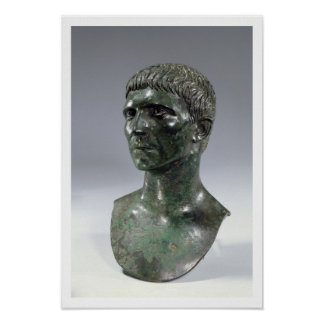 Bronze head of a man, Roman, beginning of 1st cent Poster