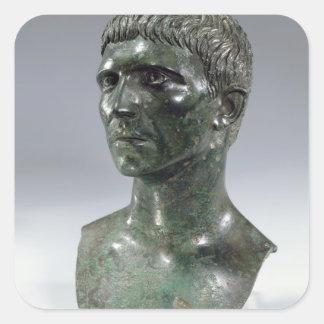 Bronze head of a man, Roman, beginning of 1st cent Square Sticker