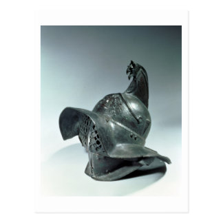 Bronze helmet of Thracian gladiator, Roman, 1st ce Postcard