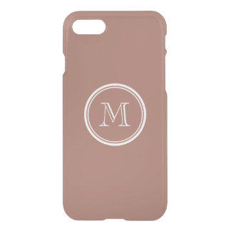 Bronze High End Colored Monogram iPhone 7 Case