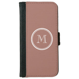 Bronze High End Colored Monogram iPhone 6 Wallet Case
