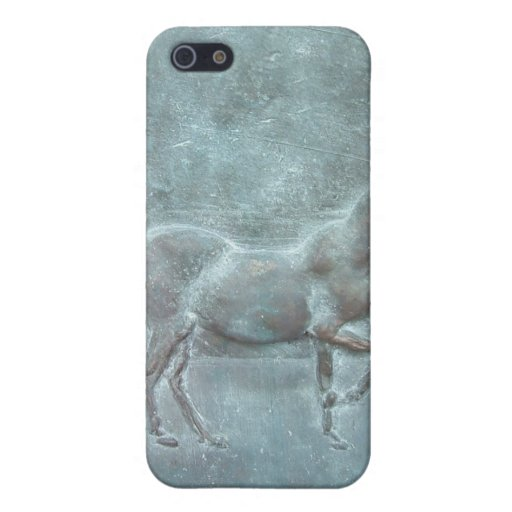 Bronze horse cover for iPhone 5