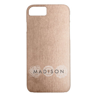 Bronze Lace Personalized iPhone 7 Case
