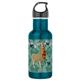 Bronze Llama Jaded Damask Liberty Bottle 532 Ml Water Bottle