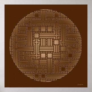 Bronze Maze Poster