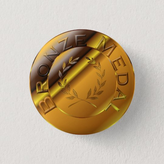 Bronze Medal 3 Cm Round Badge